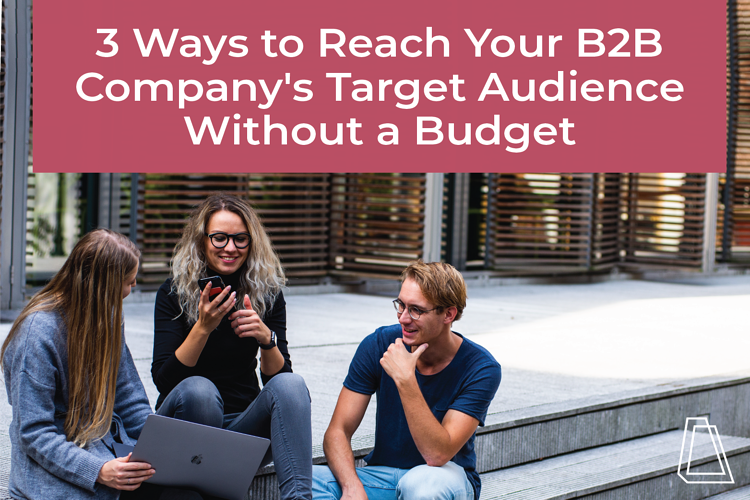 3 WAYS TO REACH YOUR B2B COMPANY'S TARGET AUDIENCE WITHOUT A BUDGET