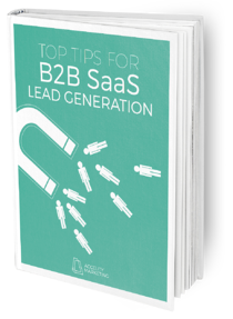 Ebook Cover: B2B SaaS Lead Gen Mock