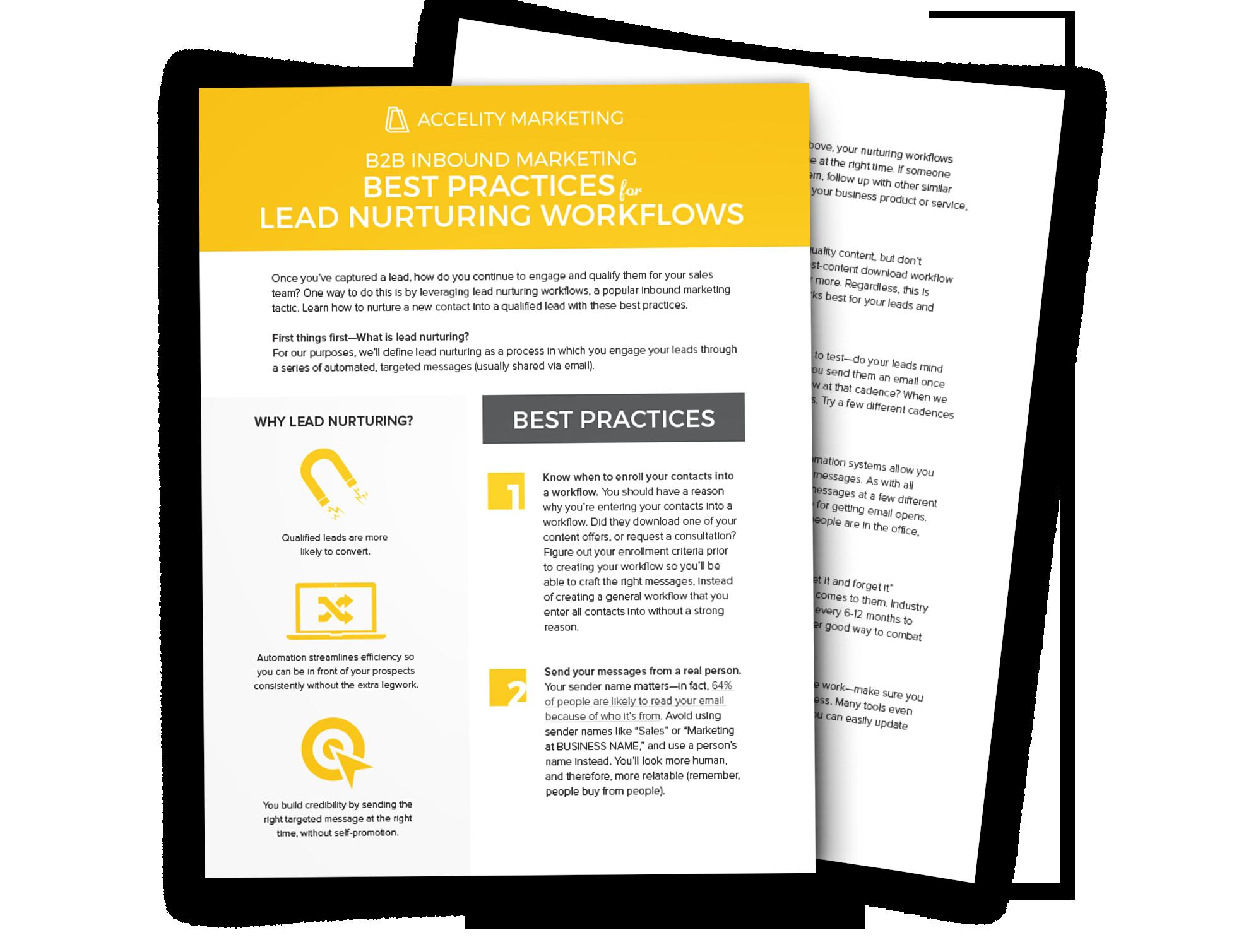 B2B Lead Nurturing Workflows Checklist