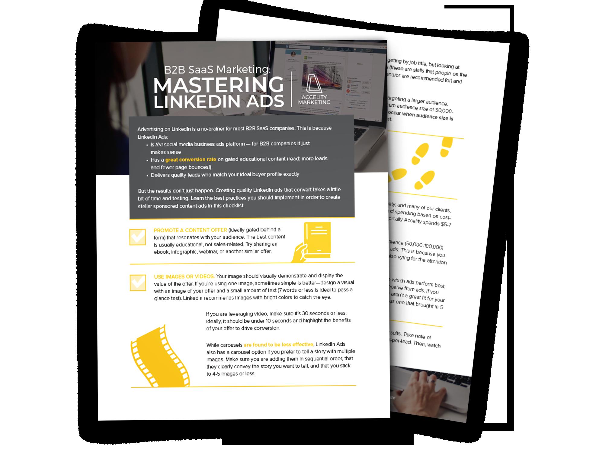 Mastering B2B Saas LinkedIn Ads Checklist