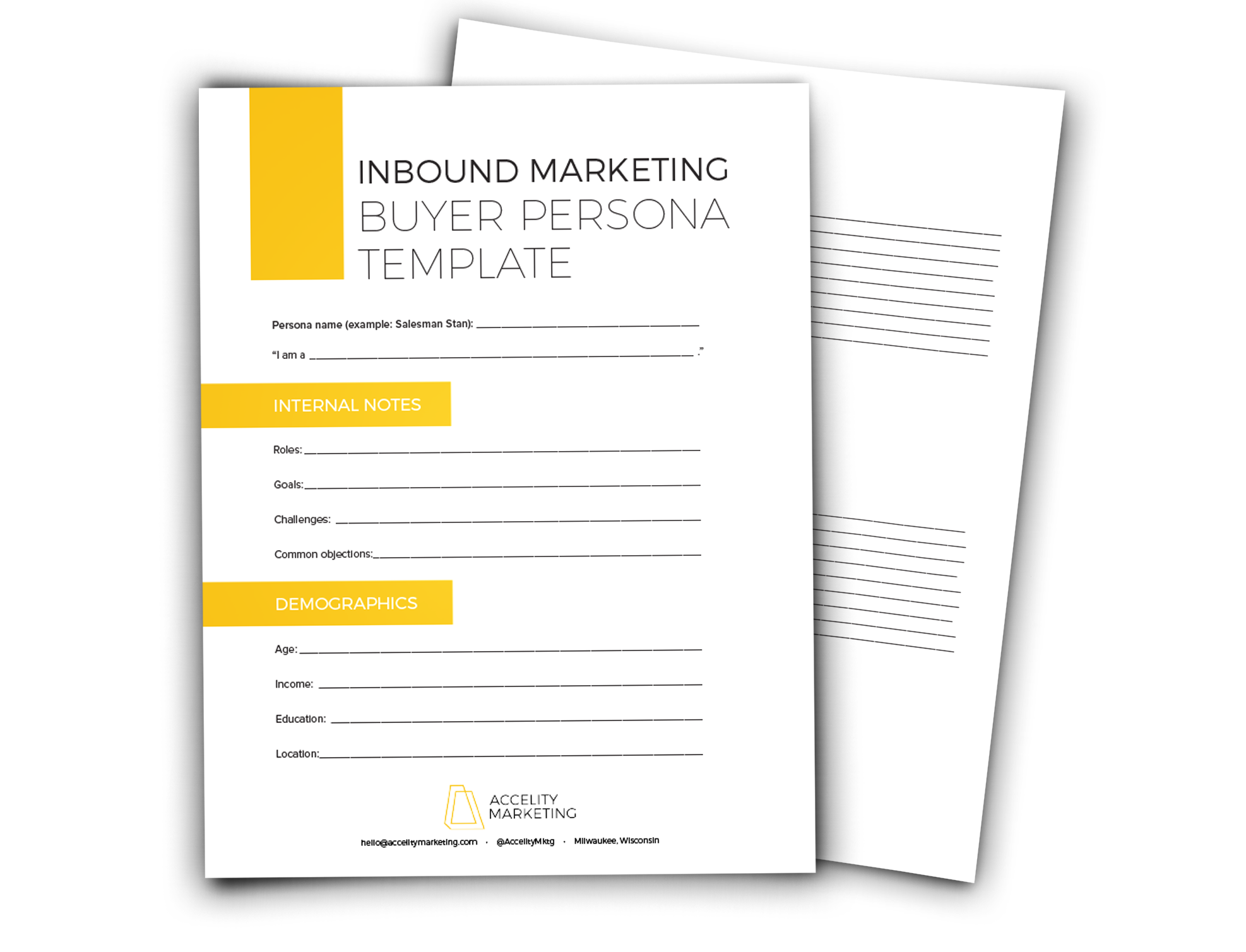 Inbound Marketing Buyer Persona Template
