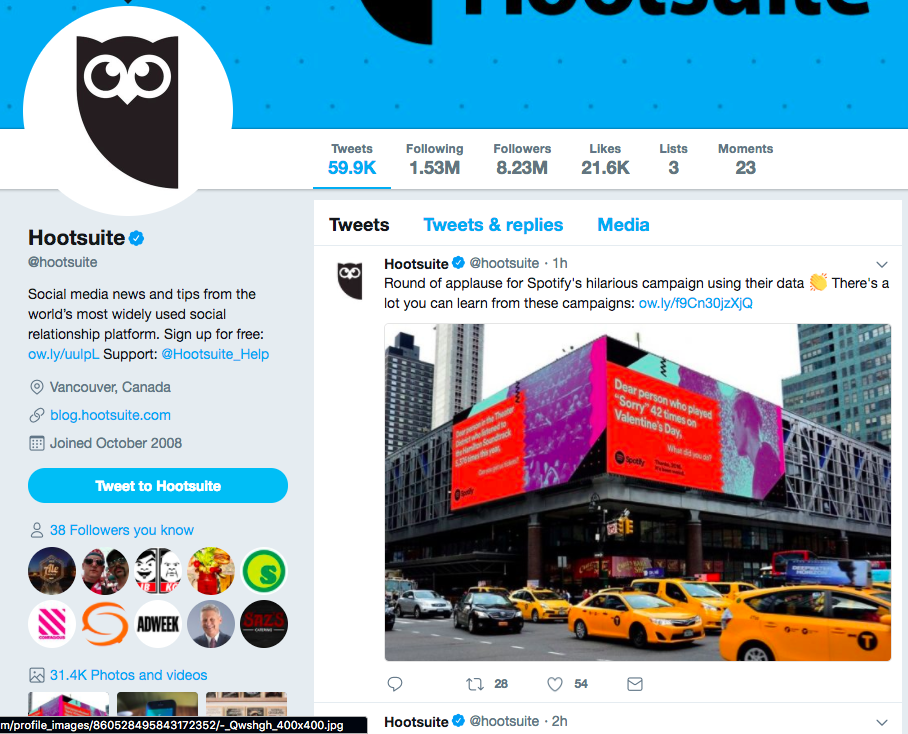 Hootsuite Twitter